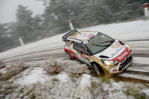<br>MONTE-CARLO, MONACO - JANUARY 16: Mads Ostberg of Norway and Jonas Andersson of Sweden compete in their Citroen Total Abu