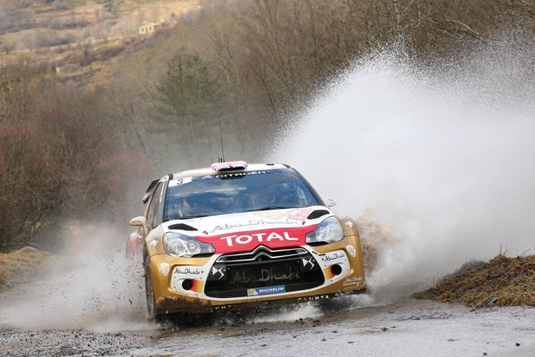 <br>MONTE-CARLO, MONACO - JANUARY 17: Kris Meeke of Great Britain and Paul Nagle of Ireland compete in their Citroen Total Ab