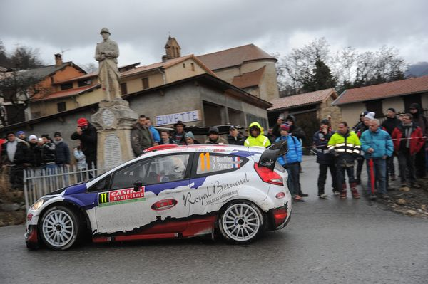 <br>MONTE-CARLO, MONACO - JANUARY 17: Bryan Bouffier of France and Xavier Panseri of France compete in their M-Sport Ltd Ford
