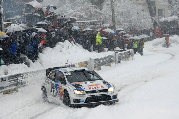 <br>MONTE-CARLO, MONACO - JANUARY 18: Sebastien Ogier of France and Julien Ingrassia of France compete in their Volkswagen Mo