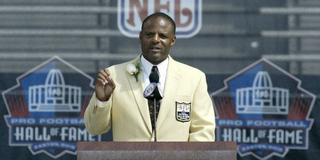 UNITED STATES - AUGUST 05:  Warren Moon, the first African American quarterback to be inducted into the hall of fame, speaks