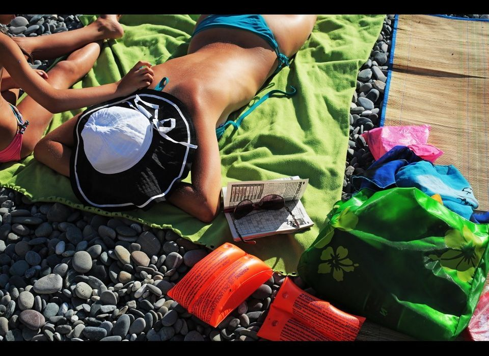 "The Adlerksy district public beach. About three million tourists visit Sochi each year.   Photo: <a href=""http://mariaplotn"