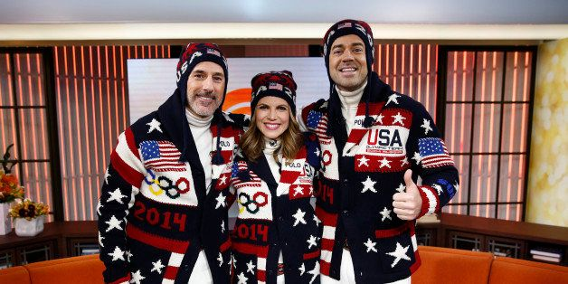 TODAY -- Pictured: (l-r) Matt Lauer, Natalie Morales and Carson Daly appear on NBC News' 'Today' show -- (Photo by: Peter Kra