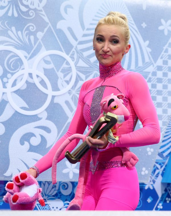And an actual Pink Panther to match. (Photo by Paul Gilham/Getty Images)