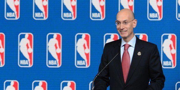 NEW ORLEANS, LA - FEBRUARY 15: 2014 NBA Commissioner Adam Silver speaks to the media prior to the State Farm Saturday Night e