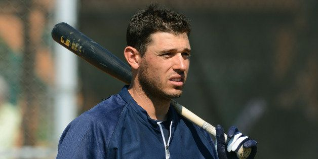 LAKELAND, FL - FEBRUARY 20:  Ian Kinsler #3 of the Detroit Tigers looks on during the spring training workout day at the Tige