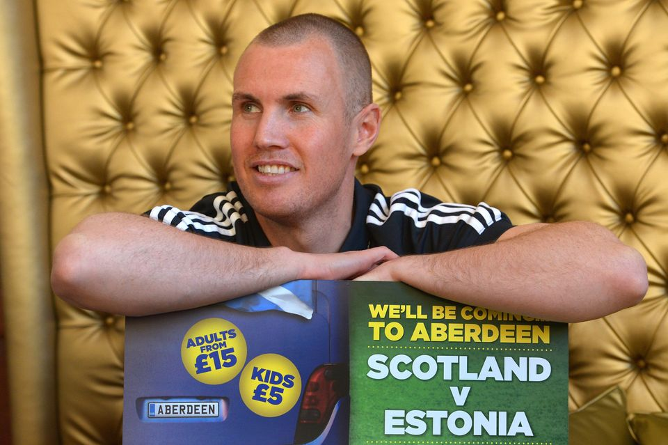 ABERDEEN, SCOTLAND - FEBRUARY 04:  Vancouver Whitecaps' forward Kenny Miller poses for pictures at the Adore House Hotel, fol