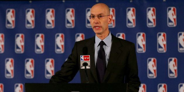 NEW YORK, NY - APRIL 29:  NBA Commissioner Adam Silver holds a press conference to discuss Los Angeles Clippers owner Donald