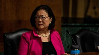 SEPTEMBER 27, 2018 - WASHINGTON, DC: Senator Mazie Hirono. The Senate Judiciary Committee holds a hearing for Dr. Christine Blasey Ford to testify about sexual assault allegations against Supreme Court nominee Judge Brett M. Kavanaugh at the Dirksen Senate Office Building on Capitol Hill Thursday, September 27, 2018. (Photo by Erin Schaff/Pool/Sipa USA)
