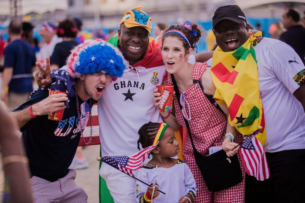 Fans arrive before the Group G match between Ghana and USA at Estadio das Dunas during the 2014 FIFA World Cup June 16, 2014
