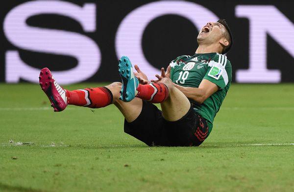Croatia's midfielder Sammir reacts after an unsucessful attempt at goal during a Group A football match between Croatia and M