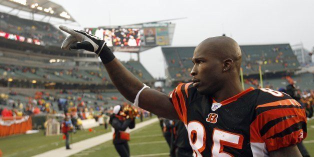 CINCINNATI - DECEMBER 09: Chad Johnson# 85 of the Cincinnati Bengals celebrates after the game against the St. Louis Rams at