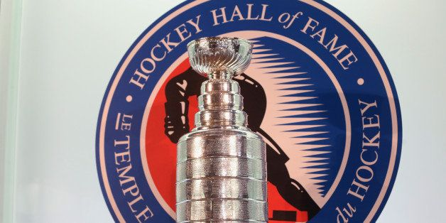 TORONTO, ON - NOVEMBER 12:  The Stanley Cup is on display prior to the HHoF induction press conference and photo opportunity