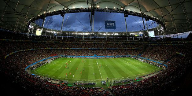 SALVADOR, BRAZIL - JULY 05: A general view of the stadium during the 2014 FIFA World Cup Brazil Quarter Final match between t