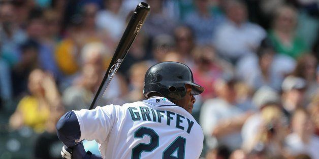 SEATTLE - APRIL 18:  Ken Griffey Jr. #24 of the Seattle Mariners bats against the Detroit Tigers at Safeco Field on April 18,