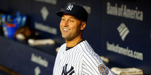 NEW YORK, NY - SEPTEMBER 25:  (NEW YORK DAILIES OUT)   Derek Jeter #2 of the New York Yankees looks on before a game against