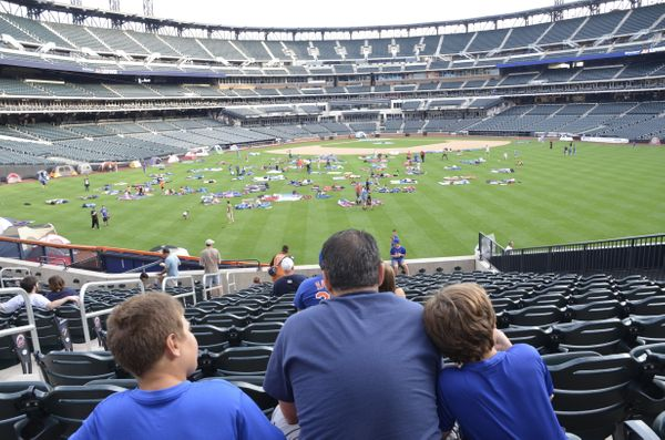 """One day, son, I'll be watching you from this very seat, and you'll bat .400 and play alongside Daniel Murphy, who will indee"