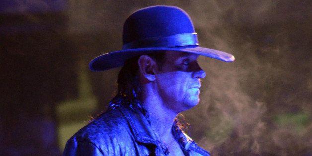 ATLANTA, GA - APRIL 03:  Wrestler The Undertaker during WrestleMania XXVII at Georgia Dome on April 3, 2011 in Atlanta, Georg