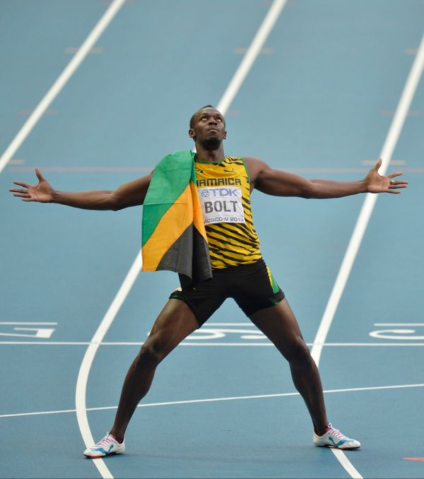 Bolt is the reigning Olympic champion in three events and the first man to win six Olympic gold medals in sprinting. And Bolt