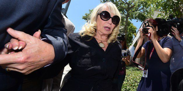 Shelly Sterling arrives at court in Los Angeles on July 8, 2014 on the second day two of the Sterling v Sterling trial over t