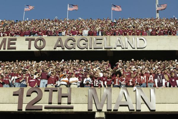 Turns out, the Texas A&M Aggies have also been calling their cheering section the 12th Man for decades, and the university we