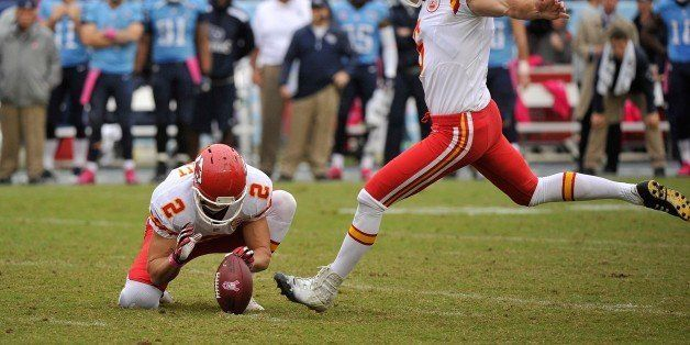 NASHVILLE, TN - OCTOBER 06:  Ryan Succop #6 of the Kansas City Chiefs kicks a field goal against the Tennessee Titans at LP F
