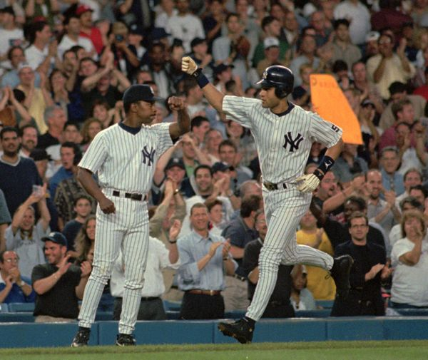 <em>158 games, .349 AVG, 24 HR, 102 RBI, 91 BB, 134 R, 8.0 WAR</em>  <br>With Mariah in his rearview mirror, Jeter had his be