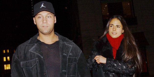 NEW YORK - DECEMBER 22:  (ITALY OUT) Yankees shortstop Derek Jeter and his girlfriend, actress Jordana Brewster, leave Barney