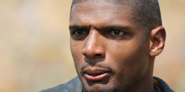 COLUMBIA , MO - AUGUST 30:  Former Missouri Tiger Michael Sam attends a game between the Missouri Tigers and South Dakota Sta