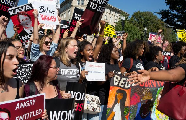 On the eve of a Senate vote to confirm Brett Kavanaugh as the next Supreme Court justice, activists and...