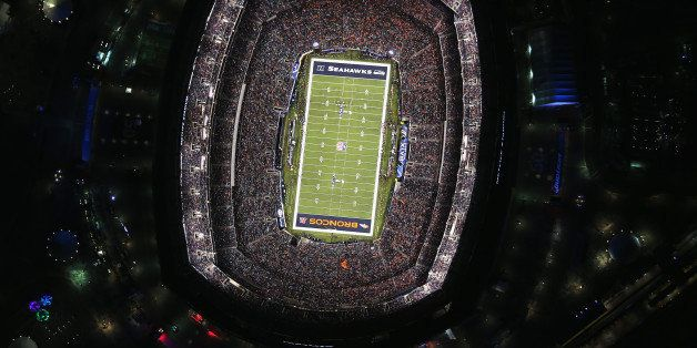 EAST RUTHERFORD, NJ - FEBRUARY 02:  The Seattle Seahawks and the Denver Broncos play in Super Bowl XLVIII on February 2, 2014