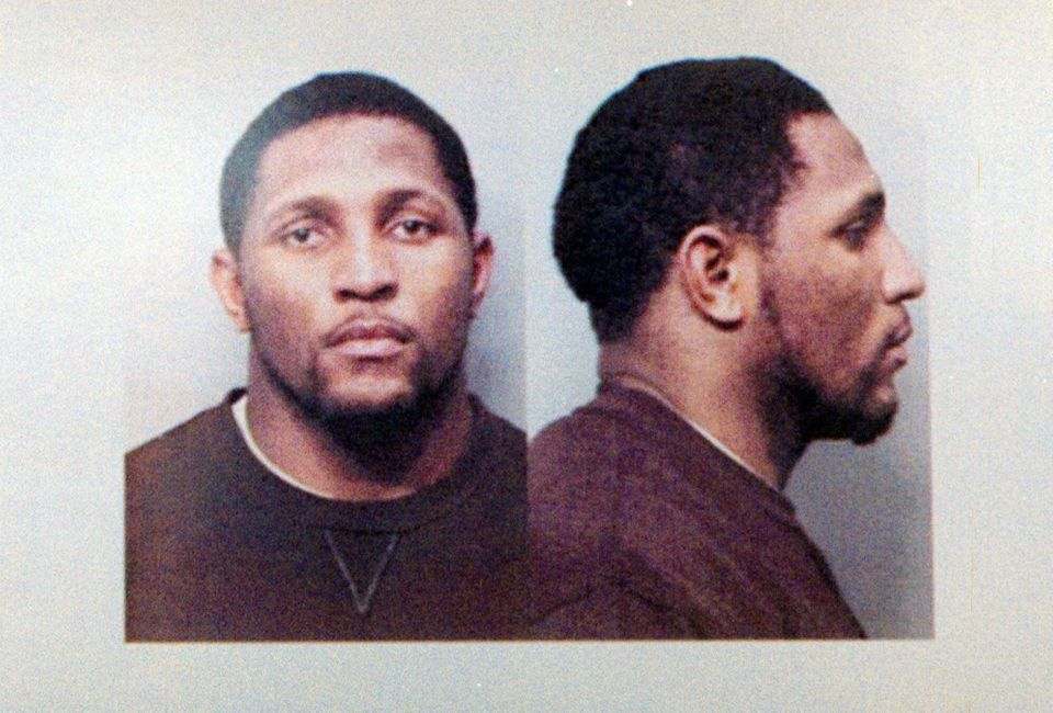 This is a police mug shot of Baltimore Ravens linebacker Ray Lewis, taken in Atlanta Tuesday, Feb.15, 2000. Lewis is free on