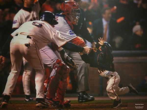 """During the 2002 World Series, Snow famously grabbed Giants manager Dusty Baker's son -- <a href=""""http://m.mlb.com/news/articl"""