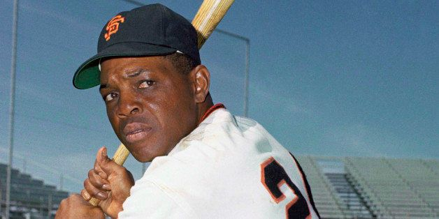Outfielder Willie Mays, of the San Francisco Giants, posing with bat, 1968. (AP Photo)