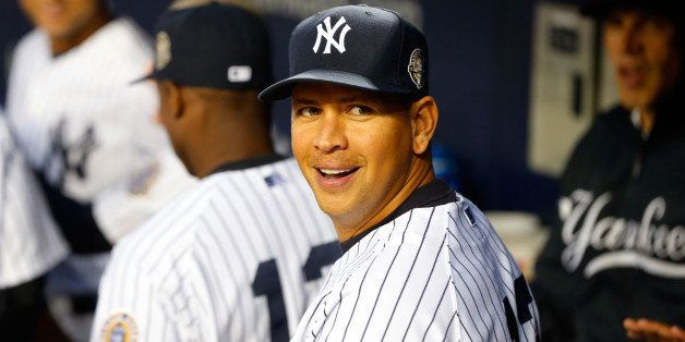 NEW YORK, NY - SEPTEMBER 25:  (NEW YORK DAILIES OUT)  Alex Rodriguez #13 of the New York Yankees looks on before a game again