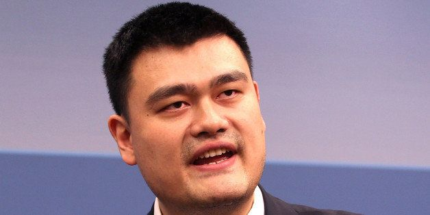 WASHINGTON, DC - MARCH 28:  Former NBA player Yao Ming participates in the 35 Years of U.S.-China Relations: Diplomacy, Cultu