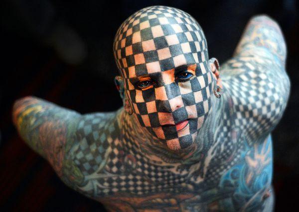 "Matt Gone, better known as the Checkered Man, has<a href=""http://www.bigtattooplanet.com/features/artist-profile/an-interview"