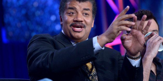 Host Neil DeGrasse Tyson is seen at the FOX Winter 2014 TCA, on Monday, Jan. 13, 2014, at the Langham Hotel in Pasadena, Cali