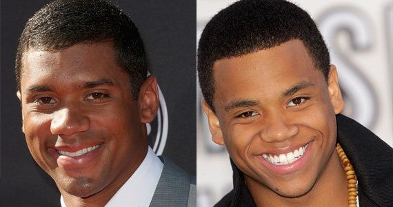 Seahawks quarter back Russell Wilson and actor Tristan Wilds