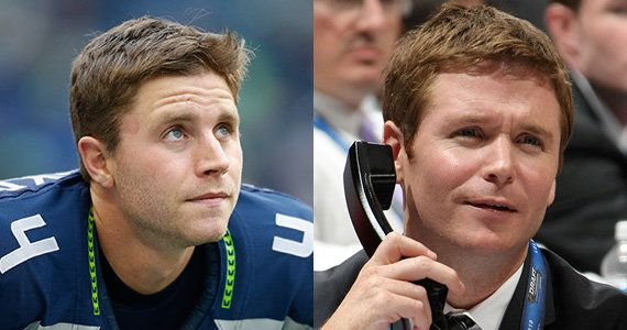 Seahawks kicker Steven Hauschka and actor Kevin Connolly