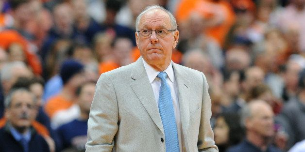SYRACUSE, NY - MARCH 02:  Head coach Jim Boeheim of the Syracuse Orange looks on from the sidelines against the Virginia Cava