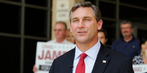 FILE - In this May 24, 2012 file photo, Texas Republican candidate for the U.S. Senate Craig James gestures during a press co