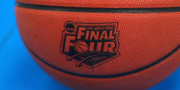 ARLINGTON, TX - APRIL 04: The Wilson basketball with the Final Four logo is seen as the Kentucky Wildcats practice ahead of the 2014 NCAA Men's Final Four at AT&T Stadium on April 4, 2014 in Arlington, Texas. (Photo by Ronald Martinez/Getty Images)