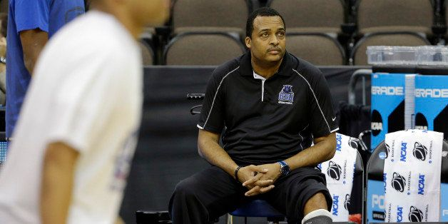 Georgia State head coach Ron Hunter during practice for an NCAA college basketball game second round game Wednesday, March 18