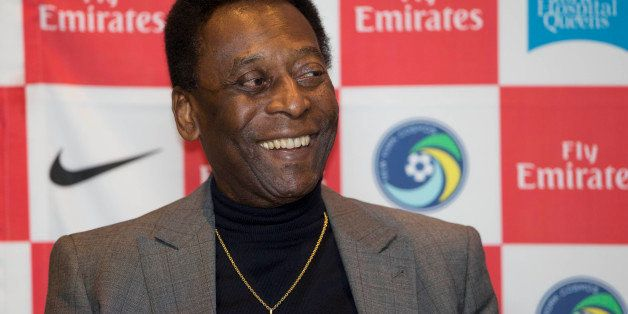 Edson Arantes do Nascimento, better known as Pele smiles during a question and answer session, at the National Soccer Coaches