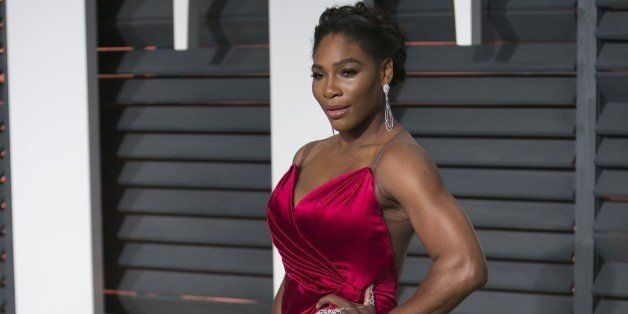 US tennis player Serena Williams arrives to the 2015 Vanity Fair Oscar Party in Beverly Hills, California on February 22, 201