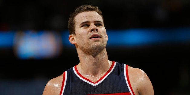 Washington Wizards forward Kris Humphries sets for free throw attempt against the Denver Nuggets in the fourth quarter of an
