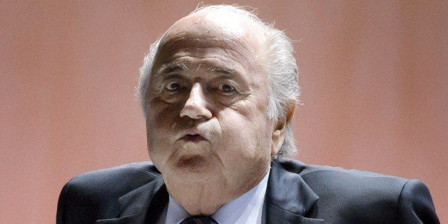 FIFA President Sepp Blatter reacts after a break during the 65th FIFA Congress in Zurich on May 29, 2015 in Zurich. Sepp Blat