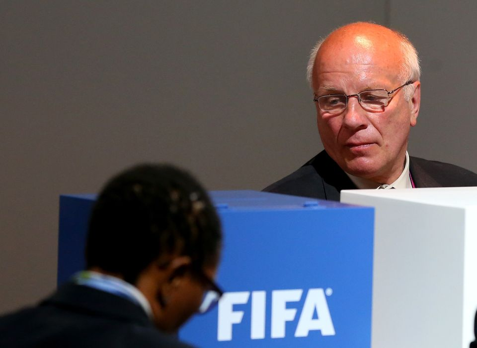 ZURICH, SWITZERLAND - MAY 29:  Greg Dyke, Chairman of the England Football Association votes during the 65th FIFA Congress at