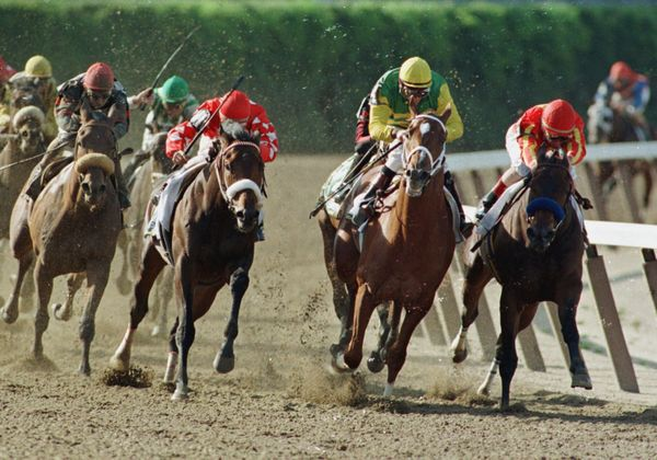 Lemon Drop Kid, left, with Jose Santos up; Stephen Got Even, second from left, with Shane Sellars up; Charismatic, second fro